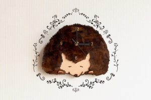 ハリネズミの掛け置き時計