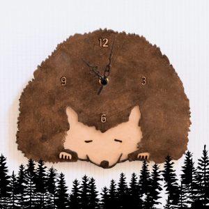 ハリネズミの掛け置き時計-square